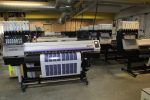 No less than 12 Mimaki printers are purring away in the production room to keep up with the increasing demand for stickers and printed promotional gifts.